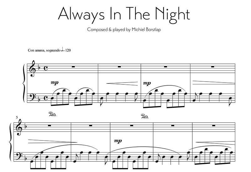 Michiel Borstlap - Always in the night (download)