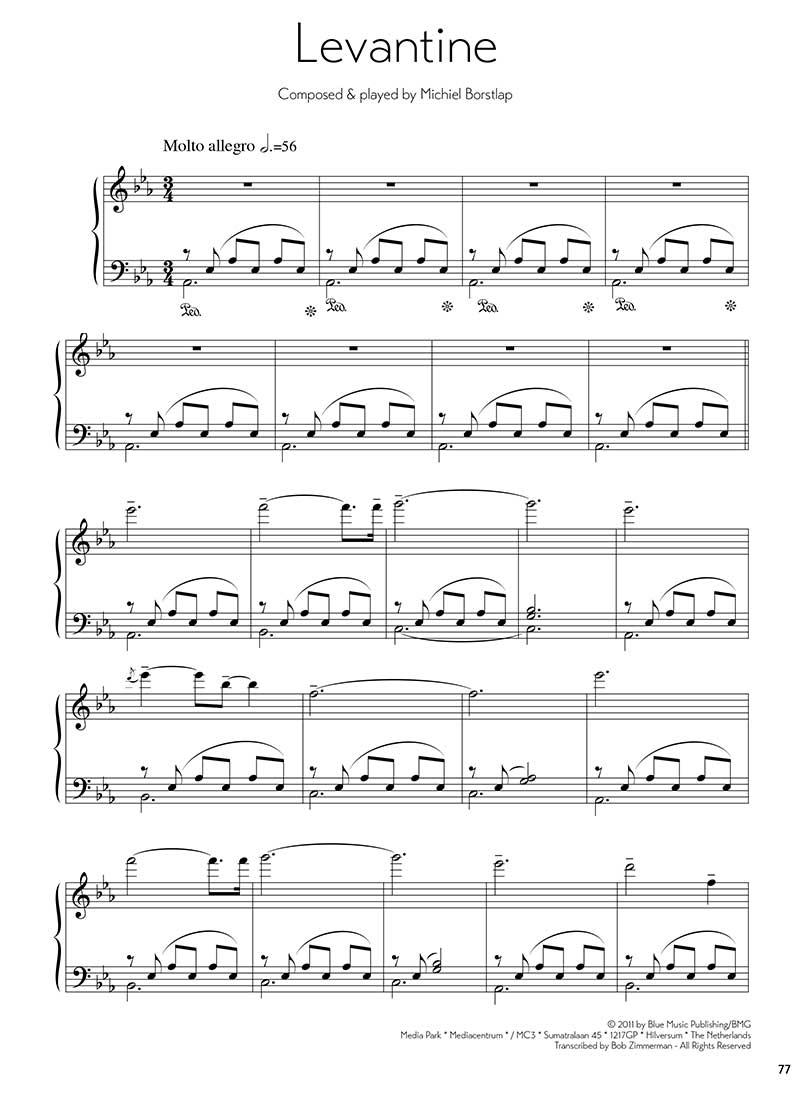 Sheet Music - Michiel Borstlap - Levantine (download)