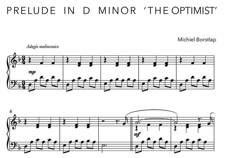 Michiel Borstlap - Prelude in D Minor - The Optimist - (download)